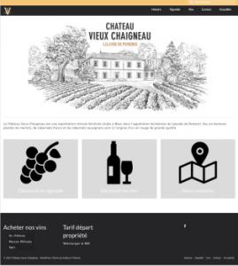 Site web du Château Vieux Chaigneau